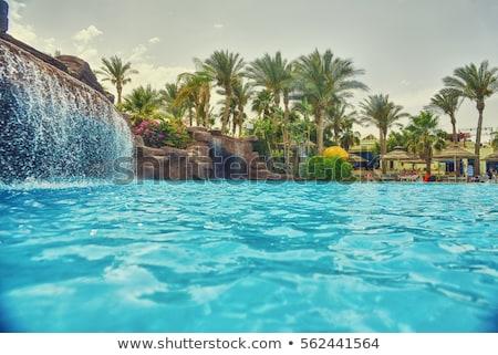 Luksusowe nice hotel basen Egipt domu Zdjęcia stock © master1305