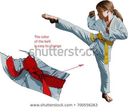 karate girl kick a leg stock photo © stockyimages