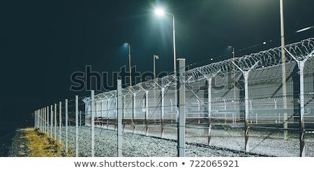 Stock fotó: Biztonság · kerítés · börtön · tekert · drótok · fehér