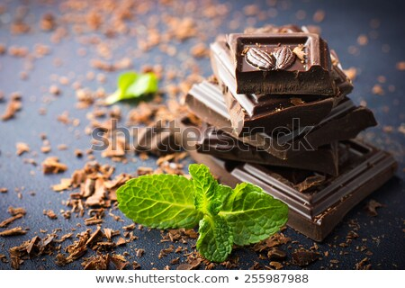 Chocolat menthe coup vert médecine Photo stock © Madrolly