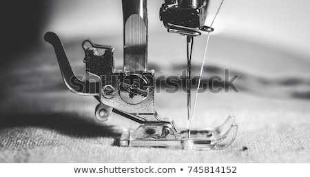 швейные машины ткань рабочих ножницы глаза Сток-фото © rafalstachura