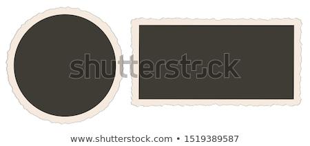 ストックフォト: 2 · ポラロイド · フレーム · 孤立した · 白 · フレーム