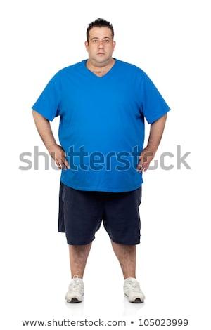 肥満した 男 孤立した 白 健康 ディナー ストックフォト © Elnur