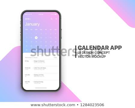 Telefon terv valósághű ezüst szín berendezés Stock fotó © maxmitzu