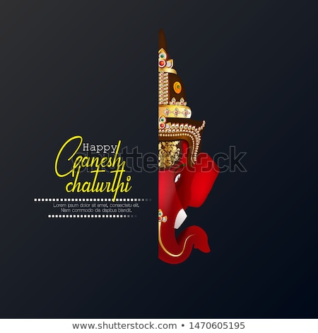 abstract artistic red ganesh chaturthi background stock photo © pathakdesigner