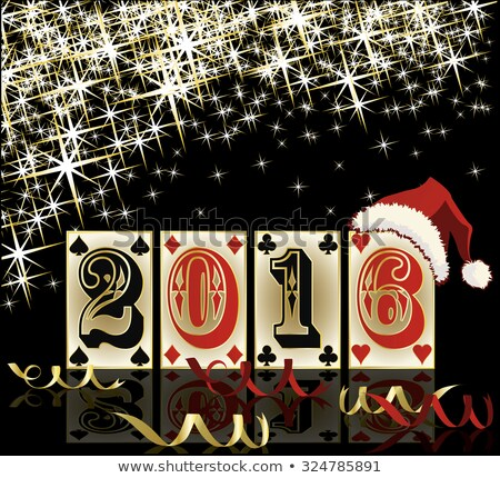 happy 2016 new year diamond poker club vector illustration stock photo © carodi