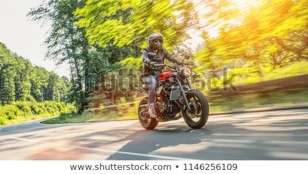 Motocicleta ao ar livre retro poder transporte estilo Foto stock © amok