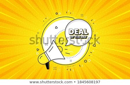 Deal Sign Yellow Vector Icon Button Stock photo © rizwanali3d