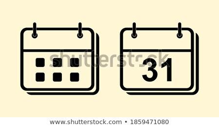 Calender Sign Yellow Vector Icon Button Stock photo © rizwanali3d