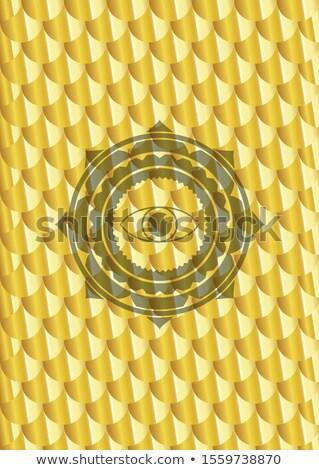 Dorado ojo ceja detalles dentro negocios Foto stock © shawlinmohd