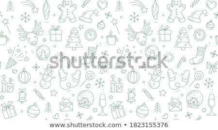 Stock photo: Snowflake Pattern. Seamless vector texture. Christmas and new year concept