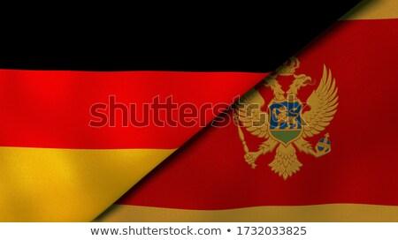 Németország Montenegró zászlók puzzle izolált fehér Stock fotó © Istanbul2009