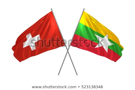 Switzerland and Myanmar Flags  Stock photo © Istanbul2009
