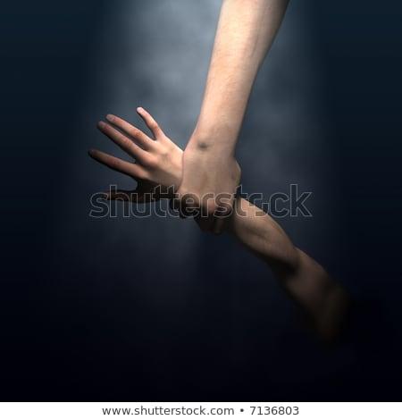 God's hand saving man stock photo © giko