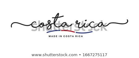 Costarica paese bandiera mappa testo Foto d'archivio © tony4urban