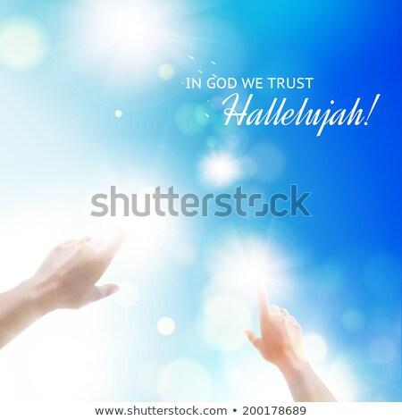 Stock fotó: Ujj · mutat · nap · kézmozdulat · kéz · absztrakt