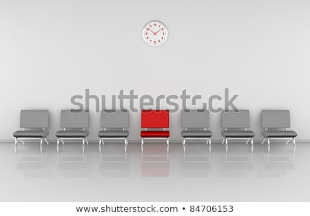 Empty chairs and one red Stock photo © 6kor3dos