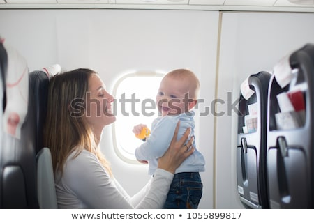 child sit in plane Stock photo © Paha_L