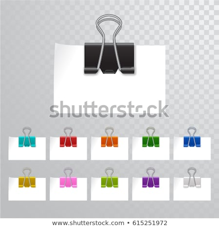 Paperclip Geel vector icon ontwerp digitale Stockfoto © rizwanali3d