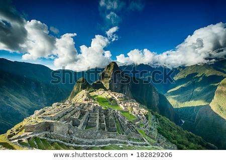 Мачу-Пикчу · Перу · Мир · наследие · здании - Сток-фото © alexmillos