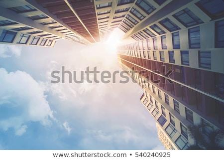 不動産 ベクトル アイコン 建物 抽象的な 青 ストックフォト © djdarkflower