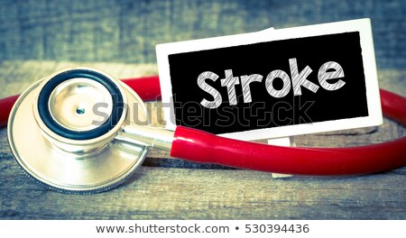 brain stroke medical concept on green background stock photo © tashatuvango