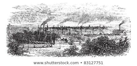 Hart Georgië vintage oude gegraveerd Stockfoto © Morphart