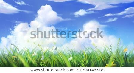 realista · ilustración · cielo · azul · nubes · sol - foto stock © gigi_linquiet