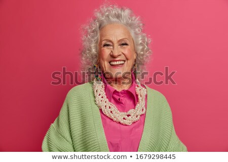 elegancki · kobieta · portret · uśmiechnięty · starszy - zdjęcia stock © ambro