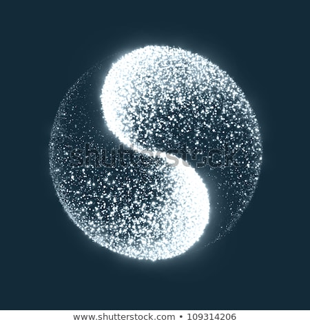 Azul yin yang símbolo branco paz chinês Foto stock © zven0