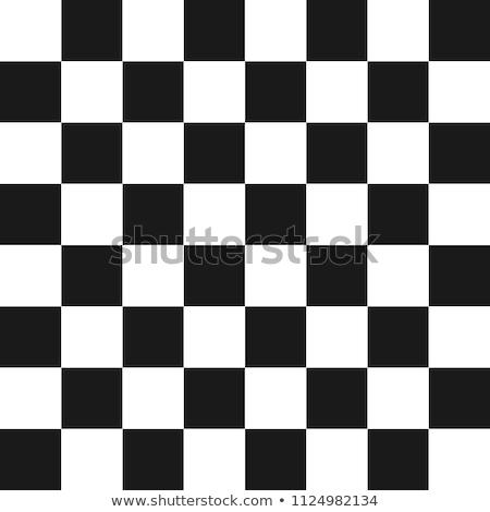 Schaakbord zwart wit schaken strategie verstand bordspel Stockfoto © rmbarricarte