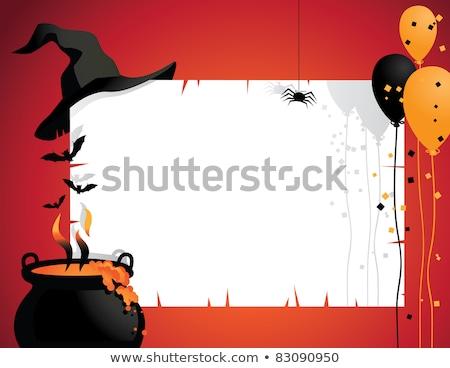 Ijesztő halloween eps vektor akta fa Stock fotó © beholdereye