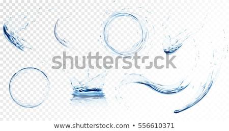 Agua corona Splash cubo de hielo luz salud Foto stock © alex_l