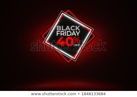 Negyven százalék árengedmény 3D kép vágási körvonal Stock fotó © idesign