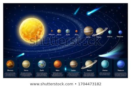 Sol planetas imaginário ilustração em torno de espaço Foto stock © alexaldo
