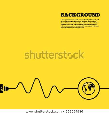 Black Yellow Abstract Globe Stock photo © hlehnerer