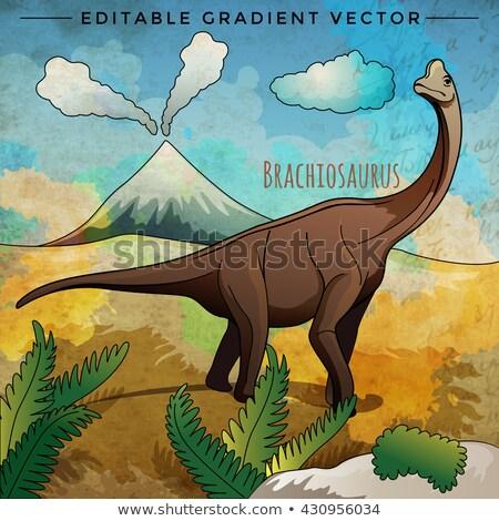 Dinosauro habitat panorama sfondo arte grafica Foto d'archivio © ConceptCafe