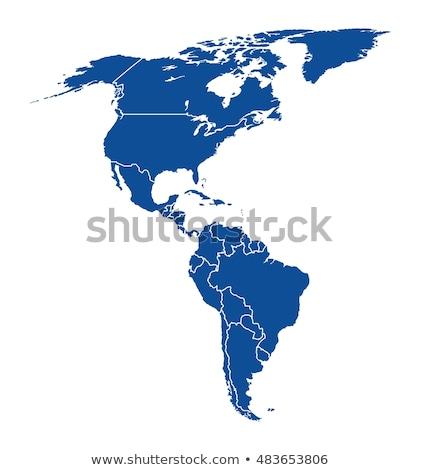 Южной Америке глобальный Мир карт Рио вектора Сток-фото © fenton