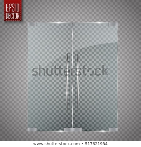 light switch with silver glass frame on the wall Stock photo © tarczas