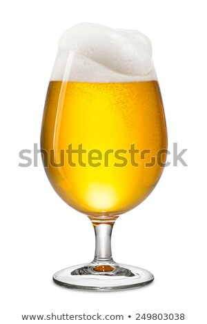Beer in a tulip glass on a white background Stock photo © Zerbor