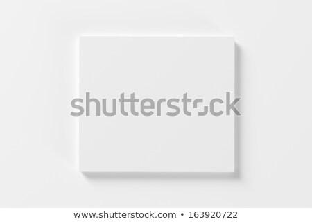 Kompakt lemez vázlat üres fehér valósághű Stock fotó © Anna_leni