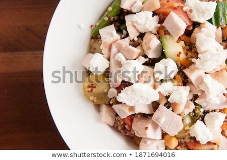 geitenkaas · kom · kaas · plaat · snack - stockfoto © digifoodstock