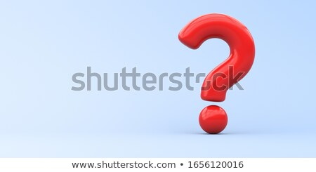 3d question mark blue Stock photo © dariusl
