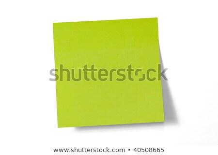 接着剤 · 注記 · 緑 · オフィス · ビジネス - ストックフォト © novic