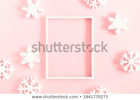 Sneeuwvlok winter illustratie natuur sneeuw grappig Stockfoto © adrenalina