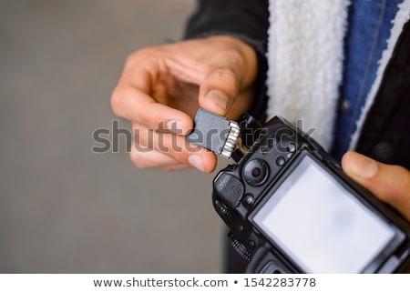 compatto · flash · ricordo · carta · carte · bianco - foto d'archivio © stoonn