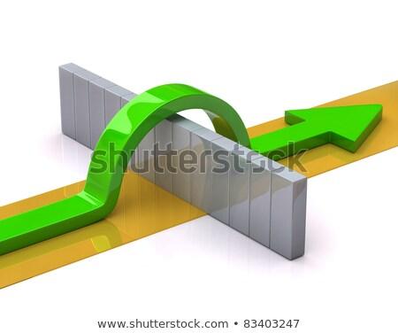 Concurrentie business twee samen breakup Stockfoto © Lightsource