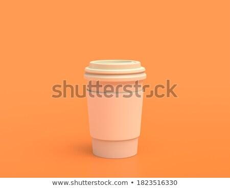 tasse · café · couleur · solide · texture · verre - photo stock © 7crafts