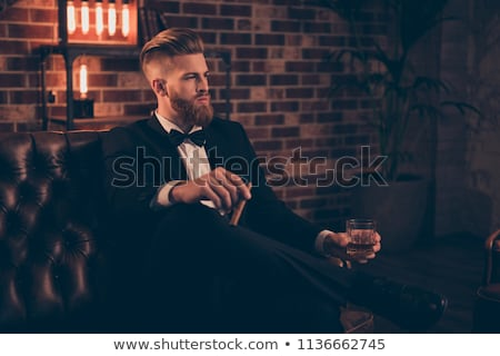 side view of an arrogant stilish man Stock photo © feedough