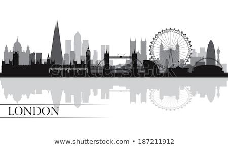 Foto stock: Londres · silhueta · fino · linha · linear